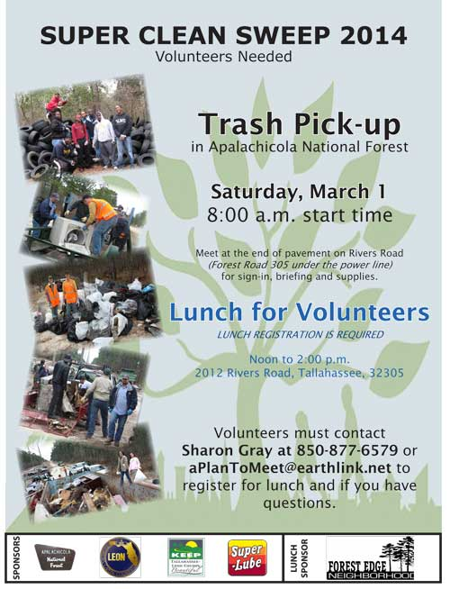 Apalachicola National Forest Cleanup - Tallahassee Florida