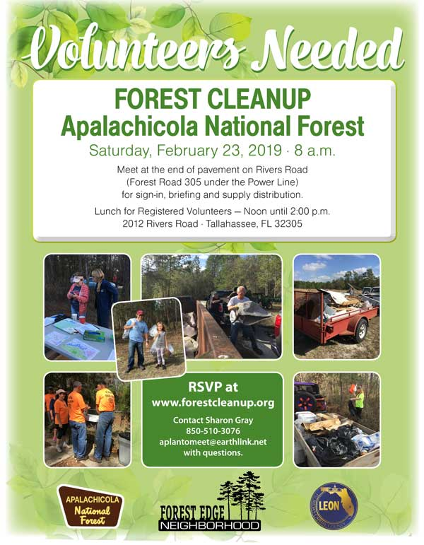 Forest Cleanup - 2018 Flyer
