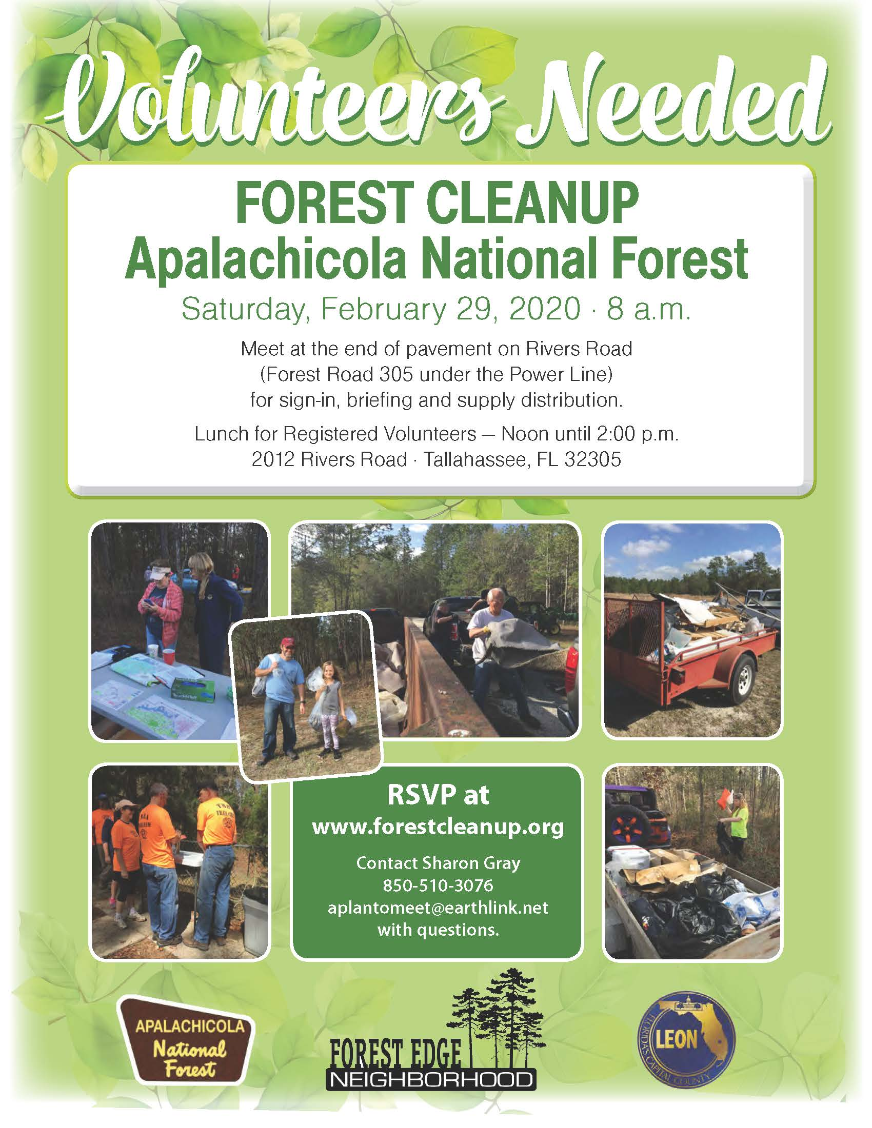 Forest Cleanup - 2020 Flyer